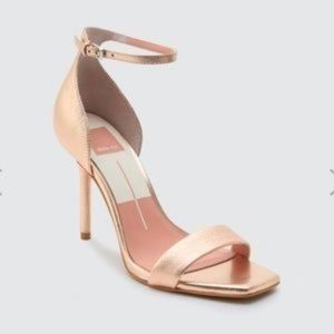 Dolce Vita Halo heeled sandals in rose gold